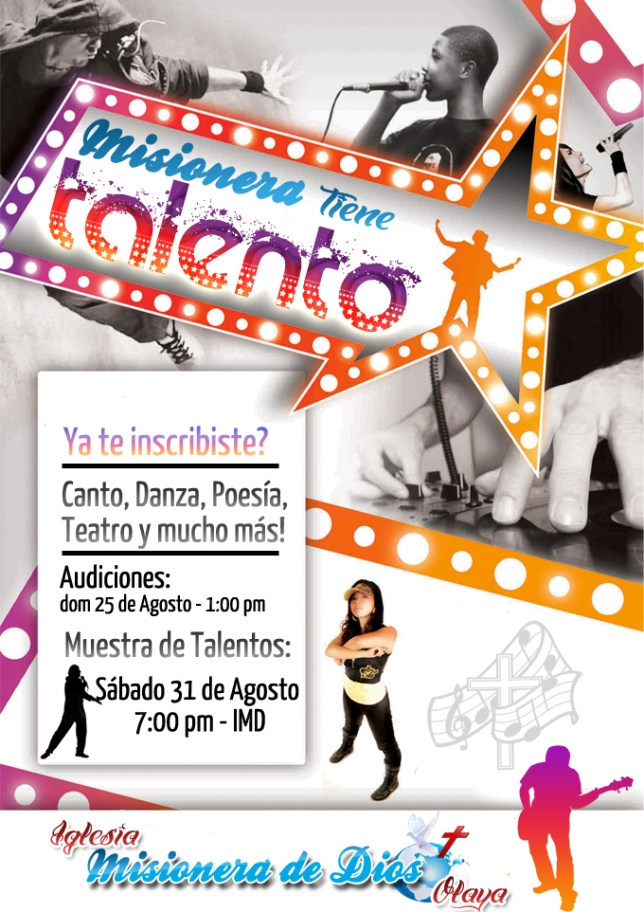 Misioneras got talent-flyer